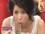 西村知美の不思議な麺の食べ方.JPG