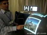 球体のマルチタッチパネル式ディスプレイ『Microsoft's Sphere display in action』.jpg